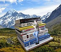 Pascal montagne de livres